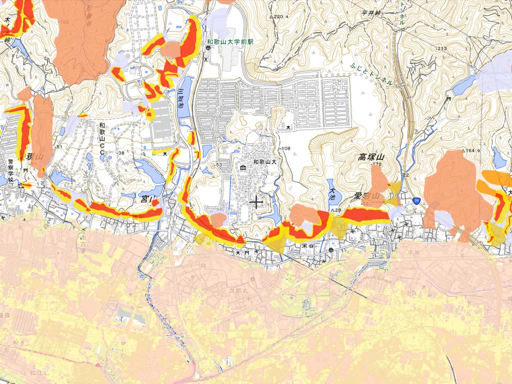 和歌山市栄谷の不動産とハザードマップ|家・土地を売る、買う、査定のときもまずは確認